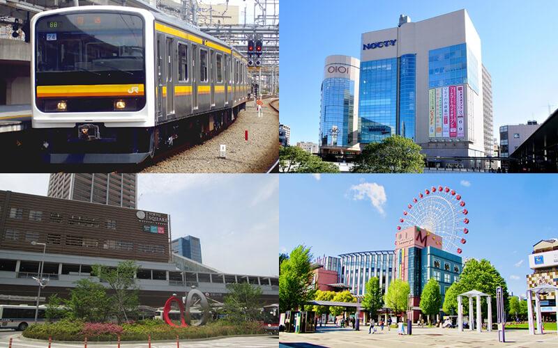 武蔵中原周辺の地域イメージ